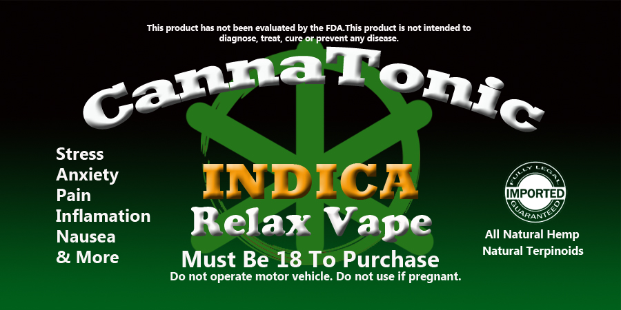 Indica By Cannatonic 150mg 15ml Vape Juice With Terpines